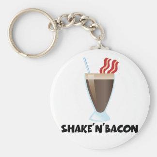 Shake'n'Bacon Basic Round Button Keychain
