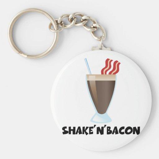 Shake'n'Bacon Llavero Redondo Tipo Pin