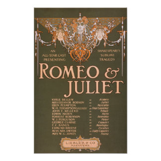 "Shakepeare's Sublime Tragedy ""Romeo & Juliet"" Poster"