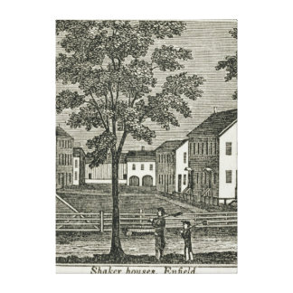 Shaker houses in Enfield Canvas Print