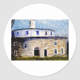 Shaker Round Barn Classic Round Sticker