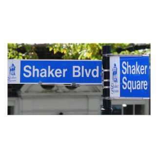 Shaker Square Sign Photo Card