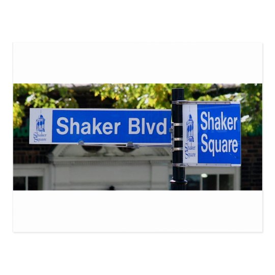 Shaker Square Sign Postcard