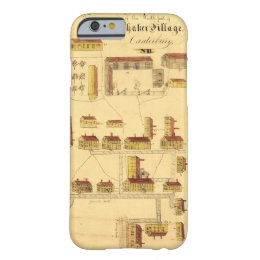 SHAKER VILLAGE MAP, 1849 BARELY THERE iPhone 6 CASE