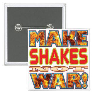 Shakes Make X 15 Cm Square Badge