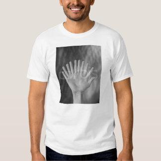 Shakes my hands. tee shirts
