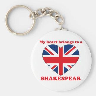 Shakespear Basic Round Button Keychain