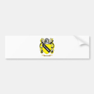 Shakespear Coat of Arms (Family Crest) Car Bumper Sticker