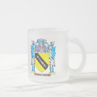 Shakespear Coat of Arms - Family Crest 10 Oz Frosted Glass Coffee Mug