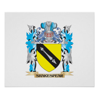 Shakespear Coat of Arms - Family Crest Posters
