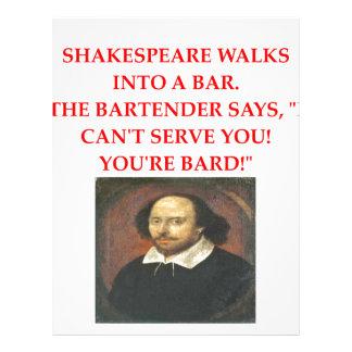 shakespear joke letterhead design
