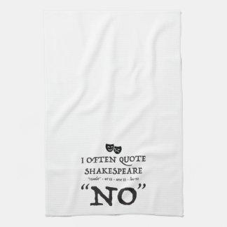 """Shakespear """"NO"""" Kitchen Towel"""