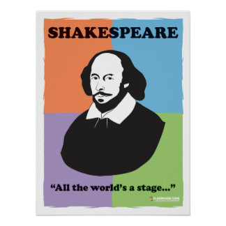 "Shakespeare 18"" x 24"" poster colorido de la sala d póster"