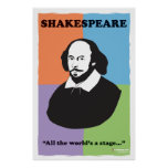 "Shakespeare 24"" x 36"" poster colorido de la sala d"