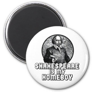 Shakespeare 2 Inch Round Magnet