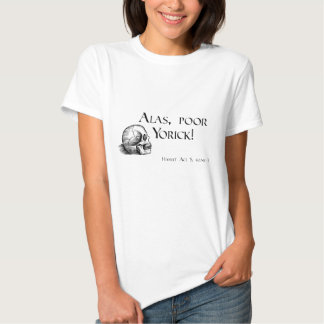 Shakespeare Alas Poor Yorick T-shirt