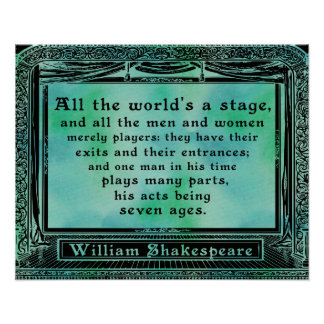Shakespeare - All the world's a stage poster