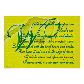 """Shakespeare """"amor altera no"""" el poster de la cita"""