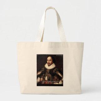 """Shakespeare """"amor/pudo"""" citar los regalos y carda  bolsa lienzo"""