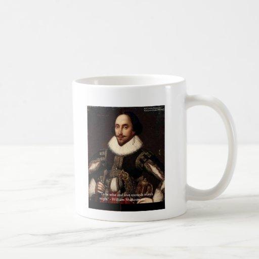 """Shakespeare """"amor/pudo"""" citar los regalos y carda  taza"""