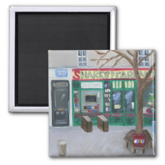 Shakespeare and Company 2 Inch Square Magnet