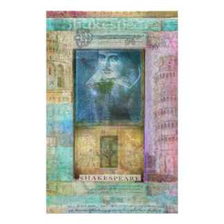 Shakespeare art customize with  favorite quotation stationery paper