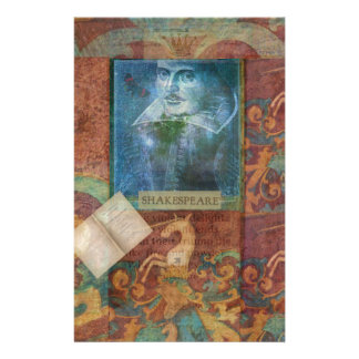 Shakespeare art customize with favorite quotation stationery