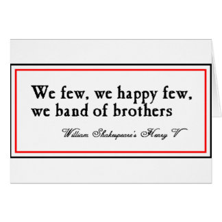 Shakespeare: Band of Brothers Card