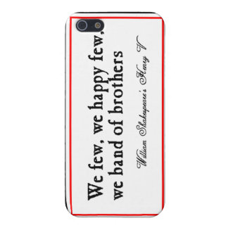 Shakespeare: Band of Brothers iPhone 5 Covers