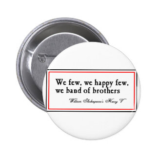 Shakespeare: Banda de hermanos Pin Redondo De 2 Pulgadas