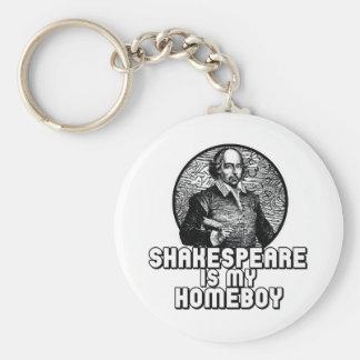 Shakespeare Basic Round Button Keychain