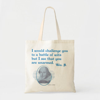 Shakespeare Battle of Wits Canvas Bags
