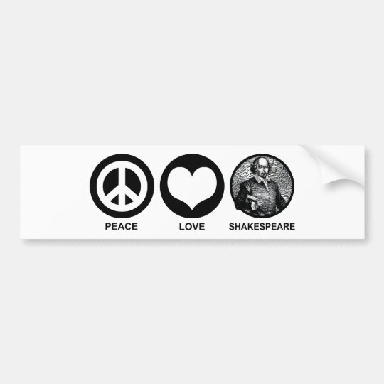 Shakespeare Bumper Sticker