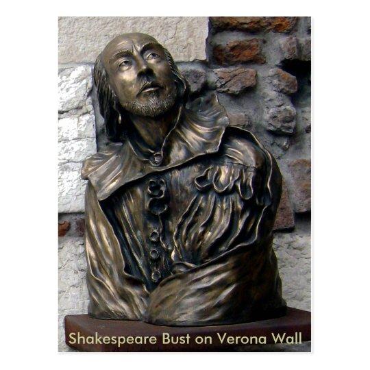Shakespeare Bust of Verona Postcard
