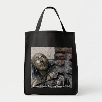 Shakespeare Bust of Verona Tote Bag