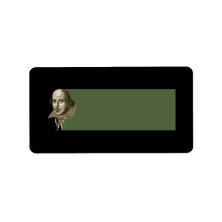 Shakespeare caricature address label for Caricature return address labels