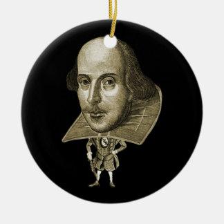 Shakespeare Caricature Ceramic Ornament