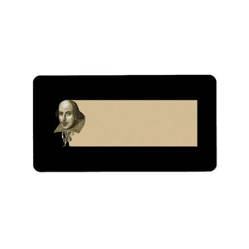 Shakespeare Caricature Custom Address Labels