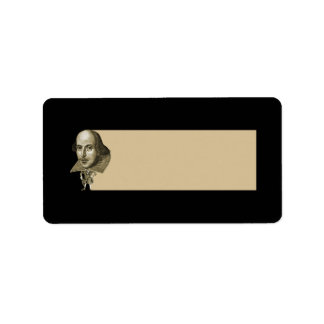 Shakespeare Caricature Address Label