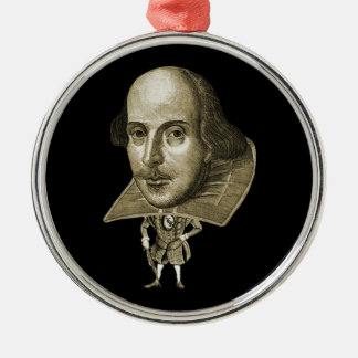 Shakespeare Caricature Metal Ornament