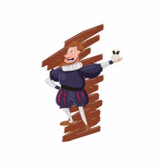Shakespeare Cartoon Actor. Cutout