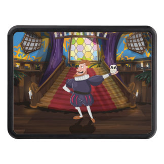 Shakespeare Cartoon Actor. Trailer Hitch Covers
