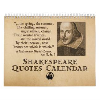 Shakespeare cita el calendario anual