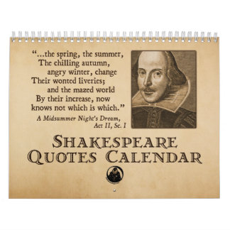 Shakespeare cita el calendario anual