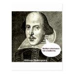 Shakespeare-cita; Ni un prestatario ni un prestami Tarjeta Postal