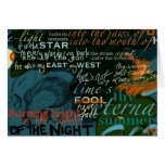 Shakespeare cita oscuridad de la poesía del amor tarjeton