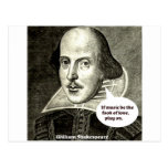 Shakespeare-cita; Si la música sea la comida del a Tarjeta Postal
