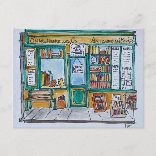 Shakespeare  Co Bookstore  Seine Paris Postcard