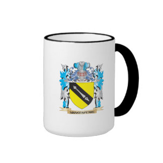 Shakespeare Coat of Arms - Family Crest Ringer Coffee Mug