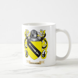 Shakespeare Coat of Arms (Family Crest) Classic White Coffee Mug